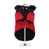 Red On Black Two Tone Dog Parka