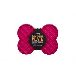 Slo Dog Feeder Plate Pink
