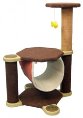 Oregon Cat Climber Tree Scratch Post and Sling Bed