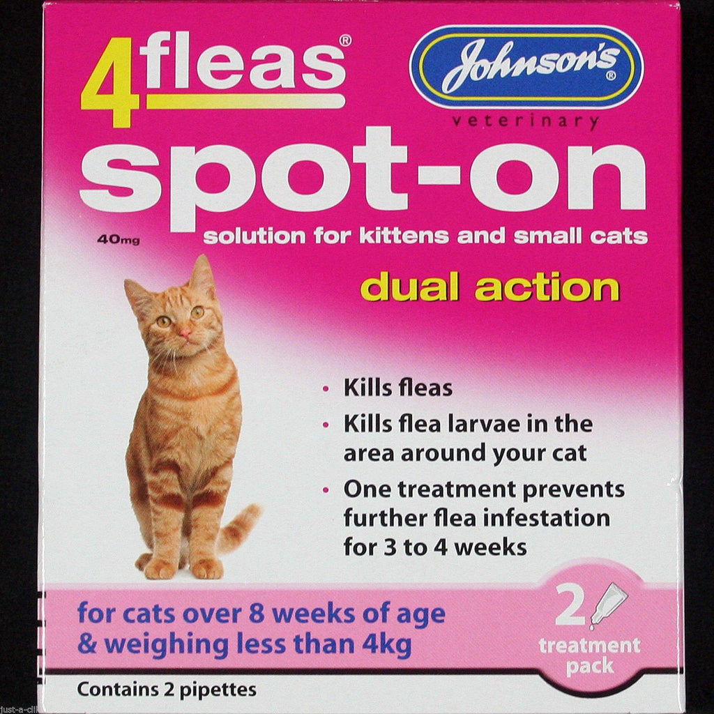 Johnsons 4Fleas Spot on for Cats & Dogs