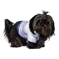 Thermo Grey/Black Quilted Dog Parka
