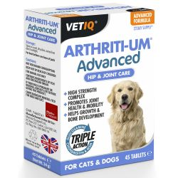 VETIQ Arthriti-UM Advanced 45 Tablets for Cats & Dogs