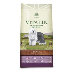 Vitalin Natural Grain-Free Adult Duck & Potato 12KG Dog Food