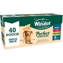 Winalot Perfect Portions Pouch Mixed Chunks in Jelly 40 x 100g Dog Food