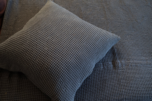 Waffle Linen Decorative Pillow Case