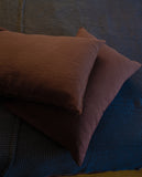 Linen Pillow Case in Chocolate Brown