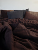Duvet Cover in Chocolate Brown color
