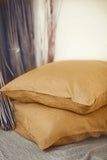 Linen Duvet Cover in Deep Mustard Color