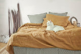 Linen Pillowcase in Deep Mustard Color