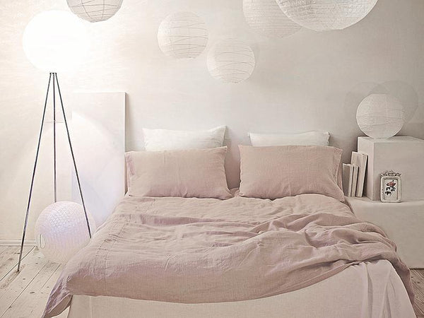 Pastel Pink Linen Pillowcase