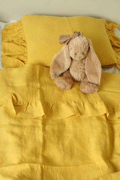 Baby Linen Bedding Set in Yellow