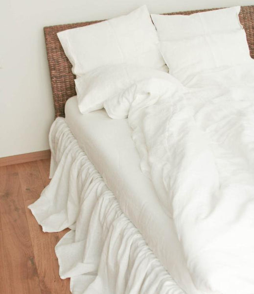 White Linen Duvet Cover