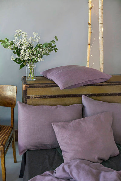 Lavender Color Linen Pillowcase