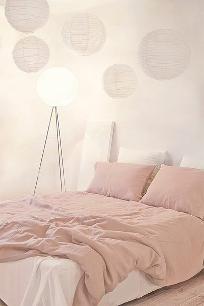 Dusty Rose Linen Duvet Cover