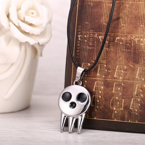 Soul Eater Metal Necklace Death the Kid's Collar Skull Logo Pendant - Marvelous Drops
