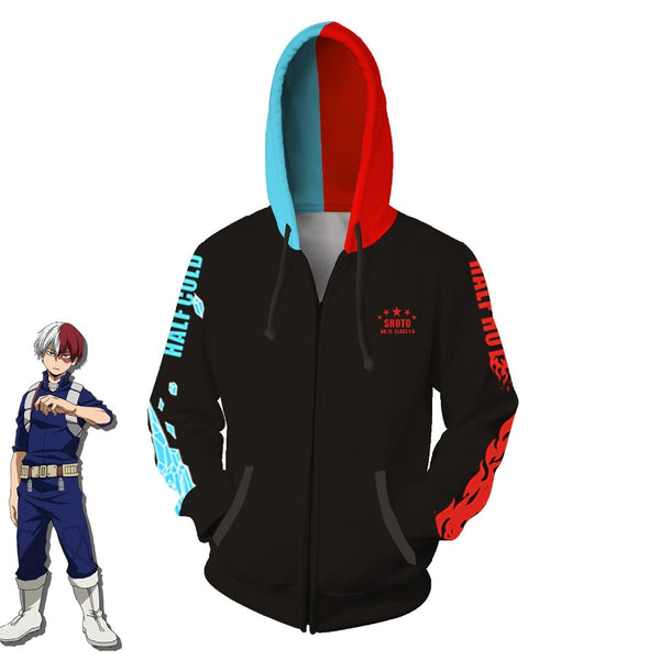 Todoroki Icy Hot hoodie - Marvelous Drops
