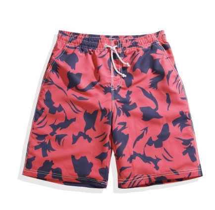Red Camo Couples Swim Trunks -