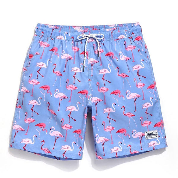 Couples Flamingo Party Trunks -