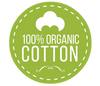 100% percent cotton logo