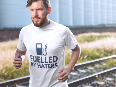 Fueled by haters t-shirt for hustlers