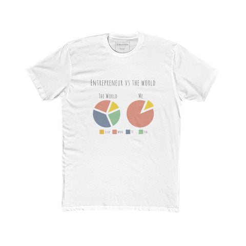 Entrepreneurs vs The World - A Pie Chart - Unisex Classic short-sleeve T-shirt