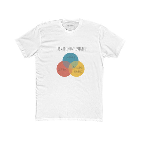 The Modern Entrepreneur - A Venn Diagram - Unisex Classic short-sleeve T-shirt