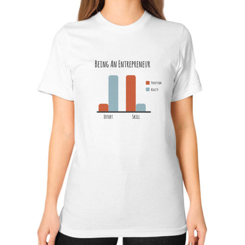 Being an Entrepreneur - A Bar Chart - Women's Classic short-sleeve T-shirt