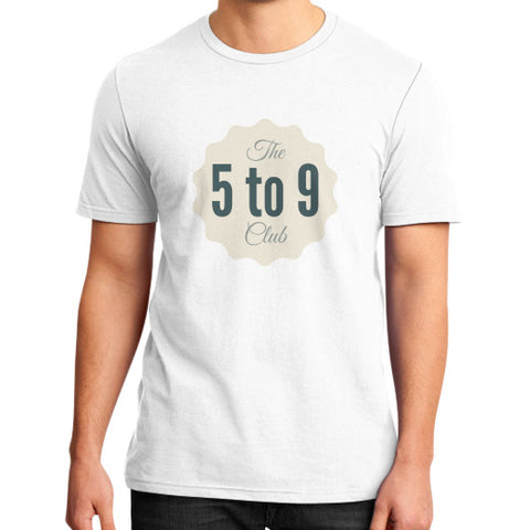 5 to 9 club - Men's slim-fit short sleeve T-shirt