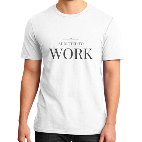 Entrepreneur: Addicted To Work - Men's slim-fit short sleeve T-shirt