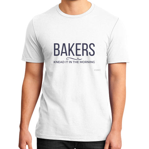 """Bakers knead it in the morning"" - Men's slim-fit short sleeve T-shirt"