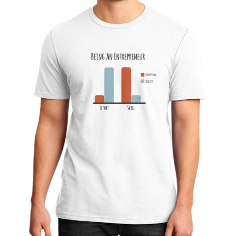 Being an Entrepreneur - A Bar Chart - Men's slim-fit short sleeve T-shirt