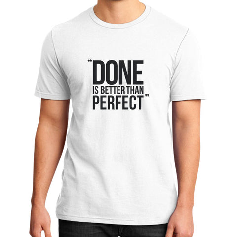 """Entrepreneur: Done is better than perfect"" - Men's slim-fit short sleeve T-shirt"
