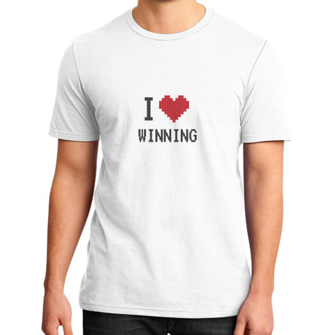 Entrepreneur: I Heart Winning - Men's slim-fit short sleeve T-shirt