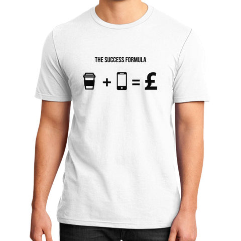 Entrepreneur: Coffee + Mobile = £ - Men's slim-fit short sleeve T-shirt