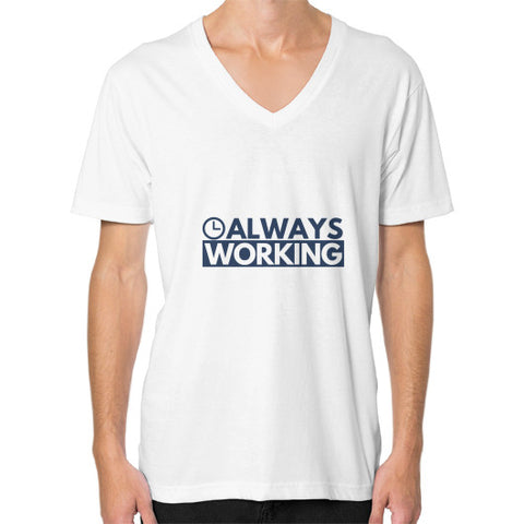 Entrepreneur: Always Working - Men's V-neck slim-fit short sleeve T-shirt
