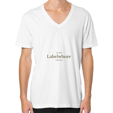 """LabelWhore"" - Men's V-neck slim-fit short sleeve T-shirt"