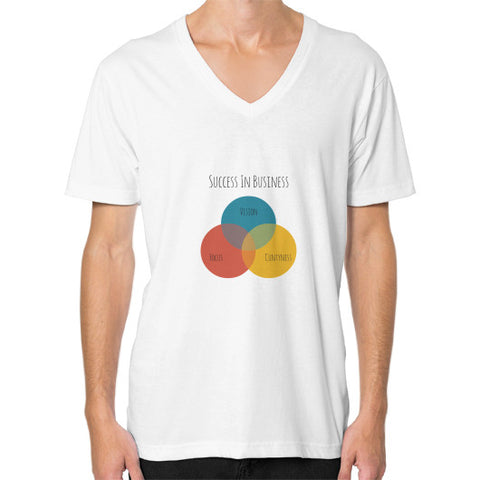 The Rude Entrepreneur - A Venn Diagram - Men's V-neck slim-fit short sleeve T-shirt
