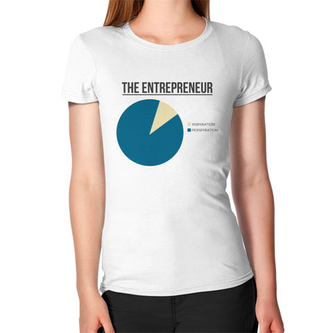 """Entrepreneur: 95% Perspiration, 5% Inspiration"" - Women's Jersey slim-fit short-sleeve T-Shirt"