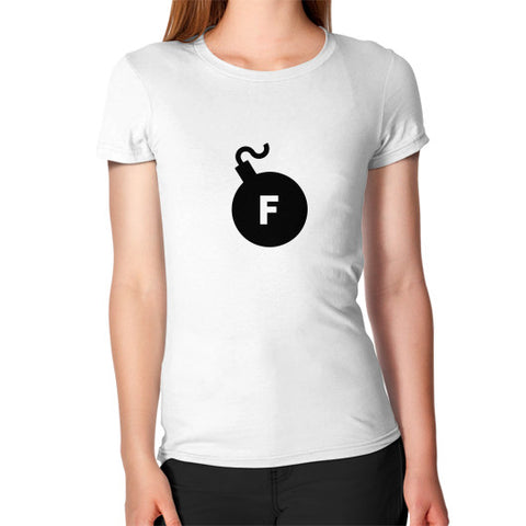 """The F-Bomb"" - Women's Jersey slim-fit short-sleeve T-Shirt"