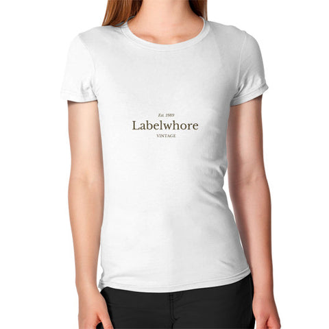 """LabelWhore"" - Women's Jersey slim-fit short-sleeve T-Shirt"