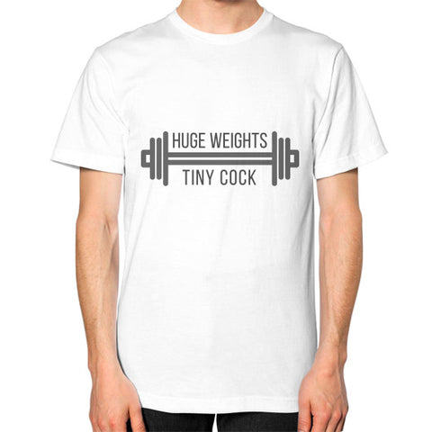 """Huge weights, tiny cock"" - Men's Classic short-sleeve T-shirt"
