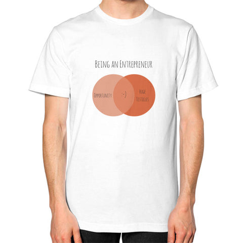 Being an Entrepreneur - A Venn Diagram - Men's Classic short-sleeve T-shirt