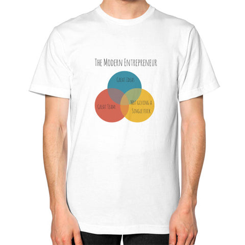 The Modern Entrepreneur - A Venn Diagram - Men's Classic short-sleeve T-shirt