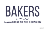 """Bakers always rise to the occasion"" - Women's Jersey slim-fit short-sleeve T-Shirt"