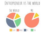 Entrepreneurs vs The World - A Pie Chart - Men's Vest