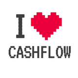 Entrepreneur: I Heart Cashflow - Men's V-neck slim-fit short sleeve T-shirt