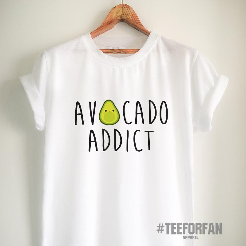 Vegan Shirt Avocado T Shirt Vegan T Shirt Avocado Shirt Avocado Addict Shirt Vegetarian T Shirt Women Girls Men Unisex Vegetarian Top Tee