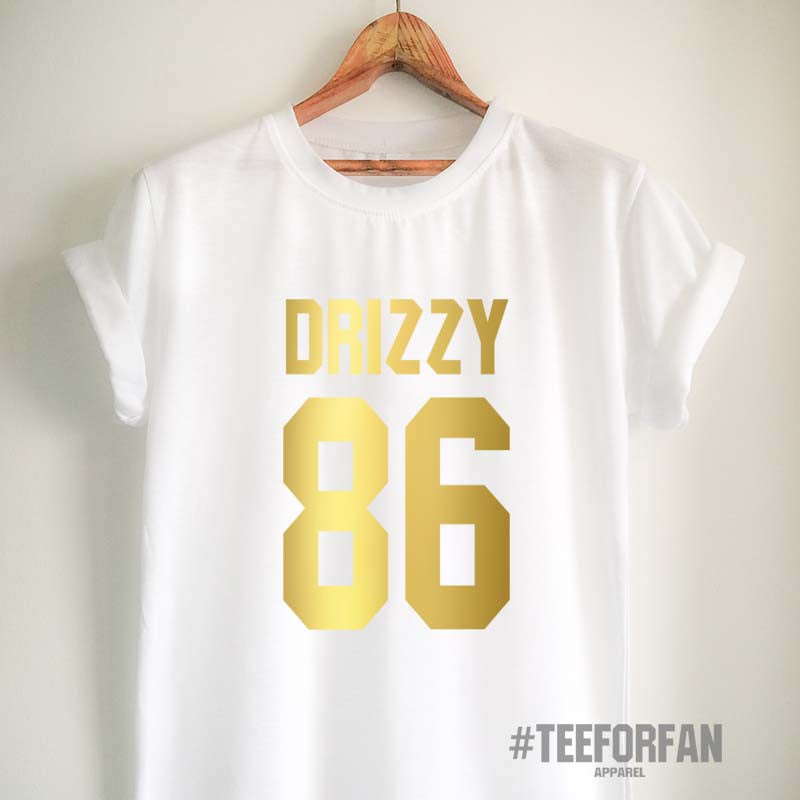 Drake Shirt Drizzy T Shirt Drake Merch Clothing Top Tee Jersey for Women Girls Men Gold Design