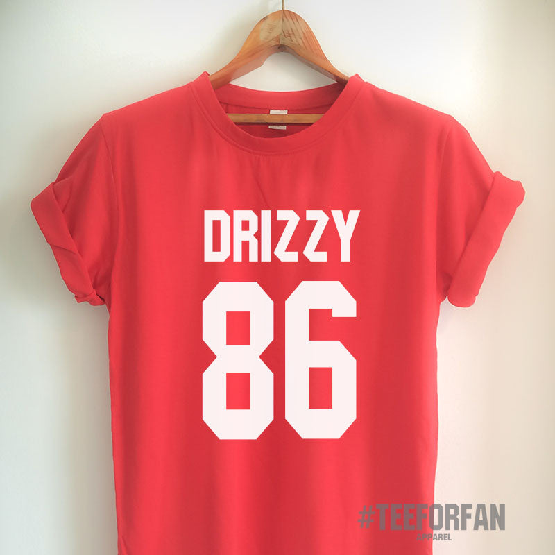 Drake Shirt Drizzy 86 T-Shirt Drake Merch Clothing Top Tee Jersey for Women Girls Men