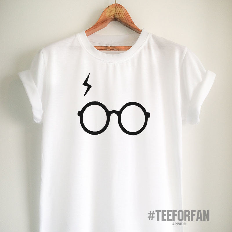 Harry Potter Shirts Harry Potter Merchandise Harry Glasses And Lightening Scar T Shirts Clothes Apparel Top Tee for Women Girls Men